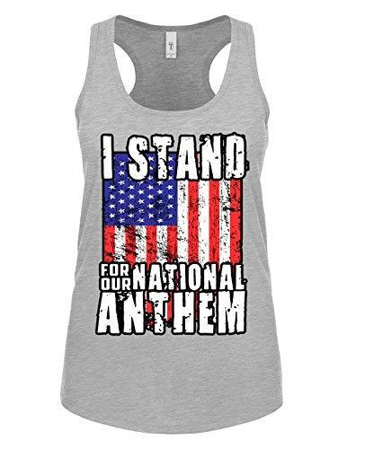 Primary image for 12.99 Prime Tees Womens I Stand For The National Anthem Racerback Tank Top 2X-La