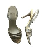 STUART WEITZMAN Pale Yellow Brown Snakeskin Texture Slingback Sandals Si... - $48.51