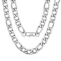 "Hip Hop Jewelry Stainless Steel Mens Figaro Chains 26"" 13mm Necklace Gift - $16.89"
