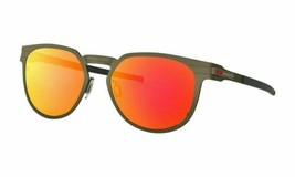 Oakley Diecutter OO4137 03 Sunglasses Men's Pewter/Prizm Ruby Lenses Round 55mm - $108.89