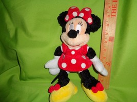 Disney Minnie Mouse Furry Red Polka Dot Dress Plush Stuffed Animal Toy D... - $5.93