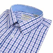 Berlioni Italy Men's & Boys Premium Yarn Dyed Luxe Cotton Dress Shirt Modern Fit image 5