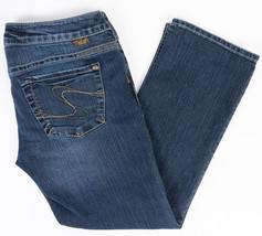 Silver Santorini Crop Womens Jeans Dark Wash Size 30/27 - $23.49