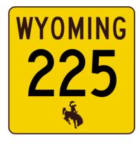 Wyoming Highway 225 Sticker R3471 Highway Sign - $1.45+