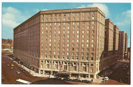 Boston MA Statler Hilton Park Square Mass Vintage 1960s Cars Postcard - $4.95