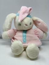 """Vintage Eden Plush White Velour Bunny Rabbit Pastel Nightgown Cap 12"""" So... - $46.00"""