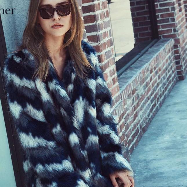 Sual long sleeve women s faux fur coats solid color pockets 9bd5a277 9a5f 482f 8a0e 6f156f881c87