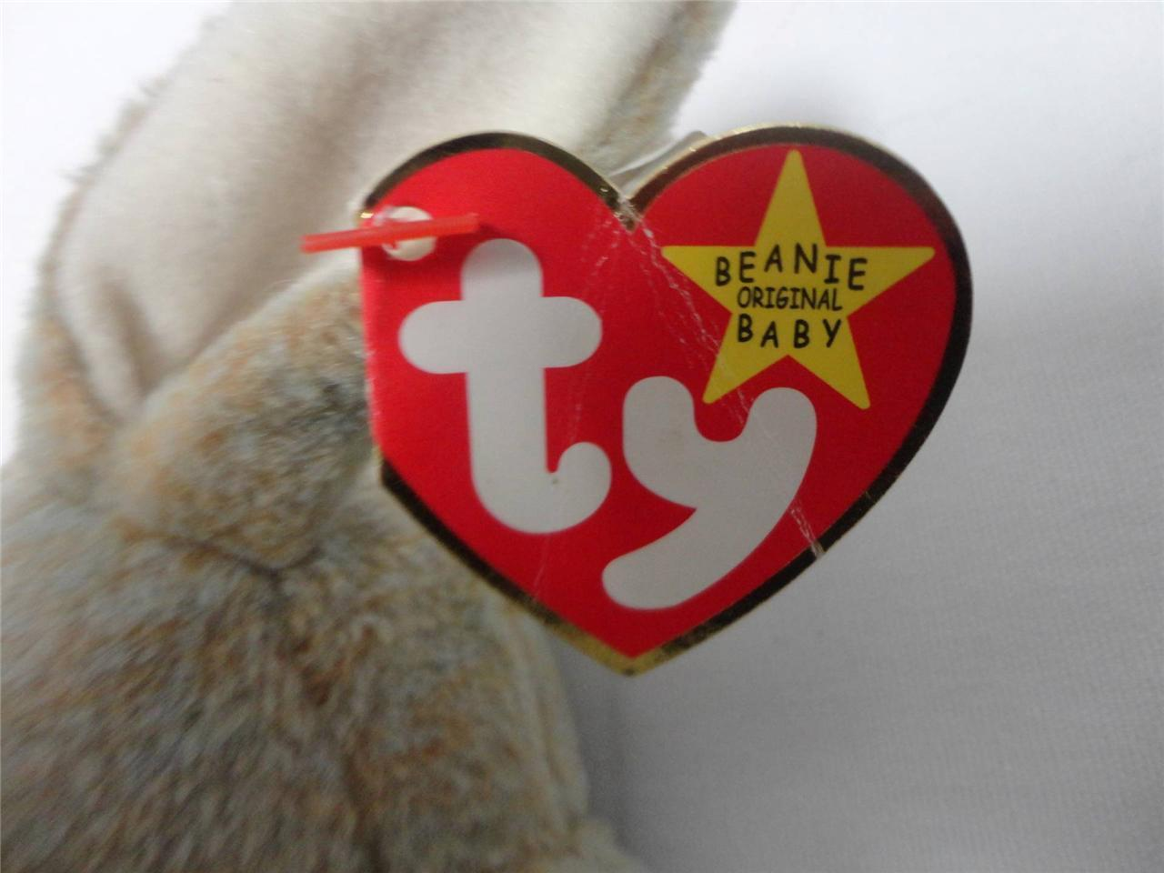 TY Beanie Baby Rabbits Hippity 1996 Ears 1995 Nibbly 1998 Easter Lot of 3