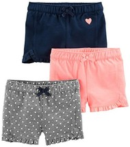 Simple Joys by Carter's Baby Girls' Toddler 3-Pack Knit Shorts, Pink.Gra... - $32.91