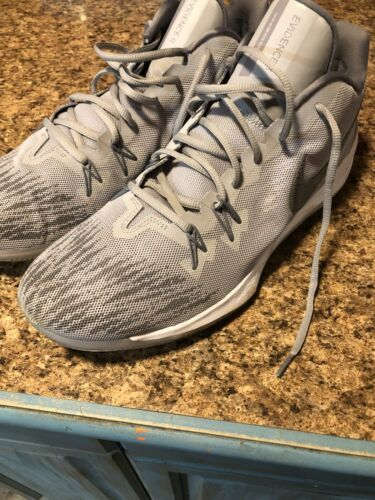 Wow!! Mens Nike Zoom Evidence II Wolf Grey High-Top Basketball Shoes!!(13)908976 image 1