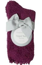 Charter Club Women's Super Soft Burgundy Lace Trim Socks Size 9-11 NEW w Tag Bow image 2