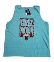 NCAA Montana Grizzlies Griz Nation Muscle Tank Top 100% Cotton Teal Size XL - $15.50