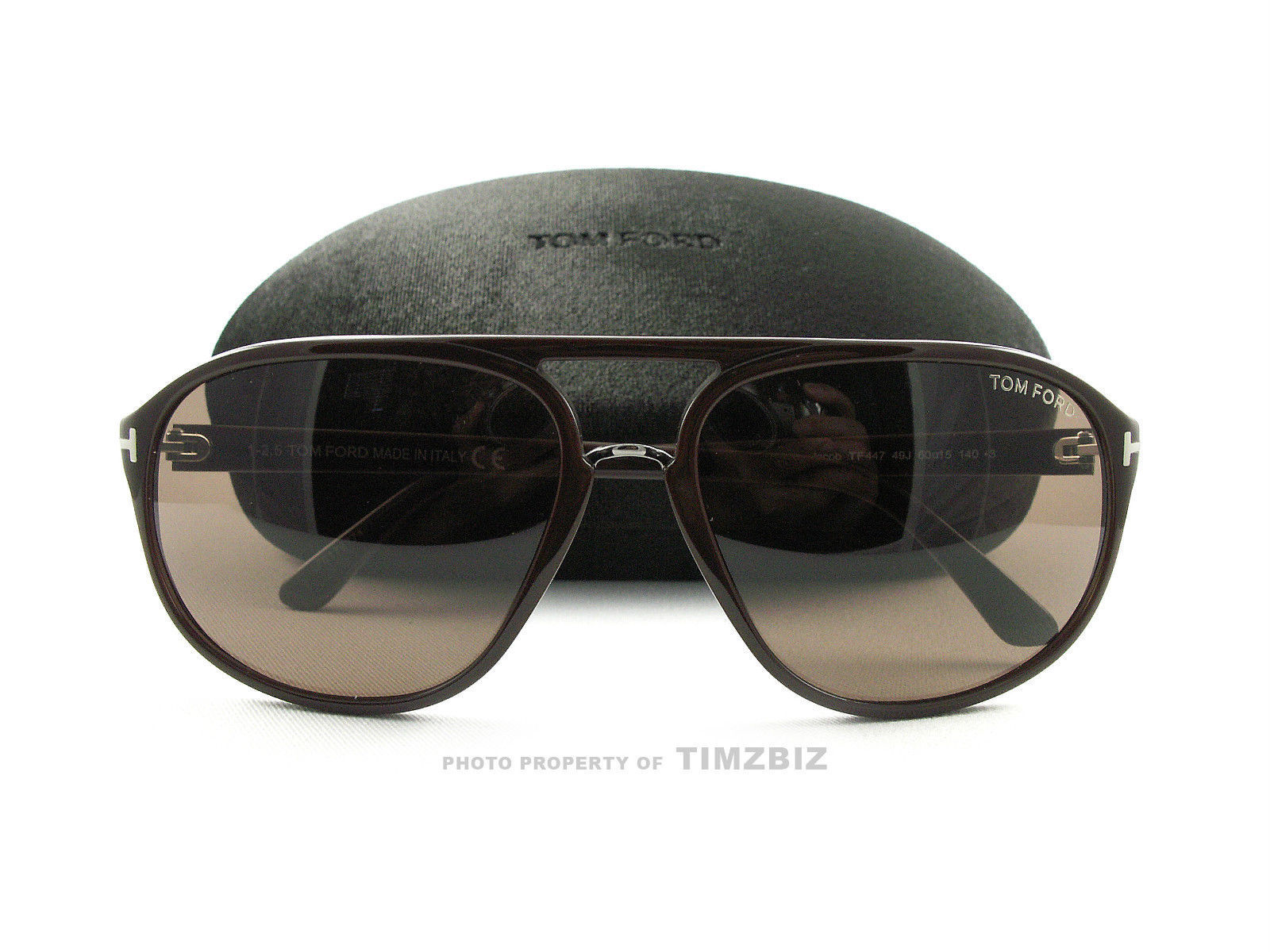 636feb8f5a83c ... New Tom Ford Sunglasses TF447 Jacob 49J Brown FT0447 S Authentic ...