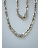 """Sterling Silver Figaro Anchor Chain 24"""" 5mm - $100.00"""