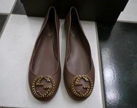 NIB 100% AUTH Gucci 310711 Studded GG Old Mauve Nappa Charlotte Flats Shoes $530 - $299.00