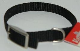 Valhoma 380 8 BK Dog Collar Black Single Layer Nylon 8 inches Package 1 image 4