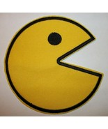 """Pac-Man Video Game~Embroidered PATCH~4"""" Round~NAMCO~Japan~Iron or Sew On - $5.23"""