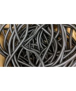 "228 Ft. 1/2"" BLACK SPLIT WIRE LOOM CORREGATED CABLE CONDUIT POLYETHYLENE... - $84.15"