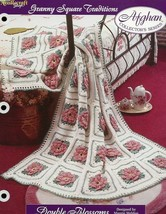 Double Blossoms Granny Square Afghan Crochet PATTERN Leaflet/NEW - $3.57