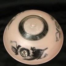 """Vintage 10"""" Pink Glass Art Deco Ceiling Light Fixture Antique Cover 3-Hole  - $73.50"""