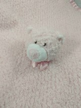 Blankets & Beyond Pink Bear Lovey Rattle Security Blanket Stuffed Animal... - $29.95