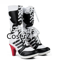 Custom Suicide Squad Clown Harley Quinn Boots Cosplay Women Shoes - $59.00