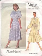 Vogue Patterns 1375 American Designer Albert Nipon Misses Midi Dress Sz ... - $9.90