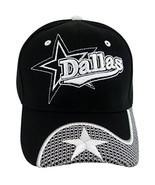 Dallas Men's 2X Star Netting Adjustable Baseball Cap (Black/White Button) - $9.99