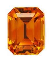 OCTAGON SAPPHIRE PADPARADSCHA ORANGE 10x8 mm LOOSE DIAMOND-SPARKLING HAR... - $16.39