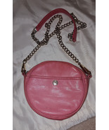 Rebecca Minkoff salmon pink leather Rose Clutch Crossbody convertible ca... - $23.00
