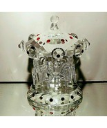 1 (One) GODINGER SHANNON Cut Crystal Carousel Merry-Go-Round Figurine NE... - $40.84