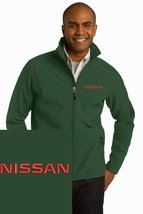 NISSAN Green Embroidered Port Authority Core Soft Shell Unisex Jacket NEW - $39.99