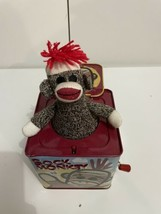 SOCK MONKEY Metal Tin Jack In The Box 2008 by Schylling CLASSIC KIDS TOY - $14.80