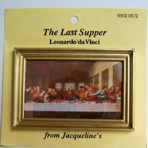 DOLLHOUSE The Last Supper Framed Picture 9302 Jacqueline's Miniature - $6.13
