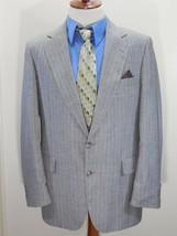 Vintage ADAMS ROW Mens 44R/44 R Wool Suit Jacket/Blazer Gray Pinstripe U... - $13.71