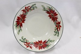 "Totally Today Poinsettia Soup Bowls 7.5"" Set of 12 - $94.07"