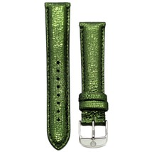 Michele 16mm Safari Green Leather Strap MS16AA060306 Deco 16 Lilou Cloette - $40.54