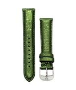 Michele 16mm Safari Green Leather Strap MS16AA060306 Deco 16 Lilou Cloette - $40.54