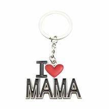 Alloy Keychain I Love Mama Letters Pendant Car Keys Rings Handbag Hangin... - $9.89
