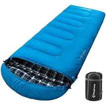 KingCamp Lightweight Cotton Flannel Sleeping Bag for Camping, 3-Season 2... - £32.37 GBP