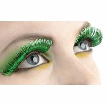 "Party Ready Team Spirit Green Tinsel Eyelashes (1 Pair)  Plastic , 1/2"" ... - $6.64"