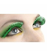 "Party Ready Team Spirit Green Tinsel Eyelashes (1 Pair)  Plastic , 1/2"" ... - $6.64"