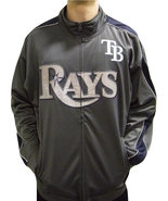 MLB Tampa Bay Rays Men's Big & Tall Full Zip Tricot Reflective Track Jacket - $34.95+