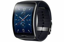 Samsung Galaxy gear S SM-R750 Curved AMOLED Smart Watch Black Wi-Fi No Box image 1