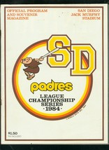 SAN DIEGO PADRES LEAGUE CHAMPIONSHIP SERIES-PROGRAM '84 VG - $37.25