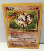 Mankey 55/64 Pokemon Card TCG Wizards Common Jungle Set NM Great Condition - $2.54