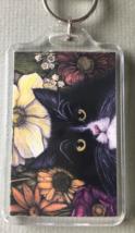 Large Cat Art Keychain - Lenny - $8.00