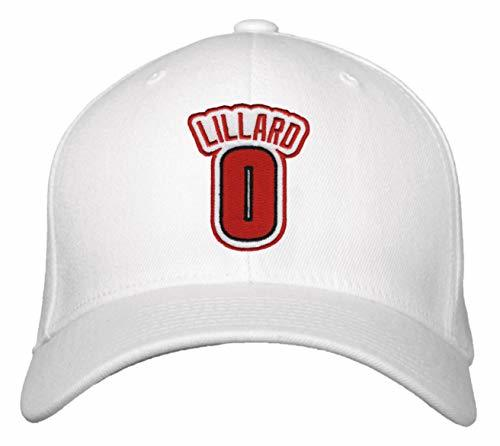 Damian Lillard Hat - Portland Basketball Jersey #0 Adjustable Cap (White)