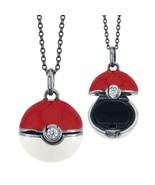 "Pokemon GO Poke Ball Locket Pendant Necklace Crystal Black Rhodium + 18""... - $142.90"