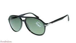 Persol Mens Sunglasses PO3194S 104131 Black/Green Pilot 59mm - $193.03